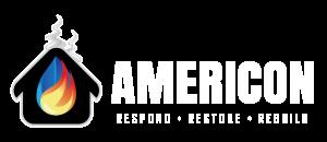 Americon Restoration white logo