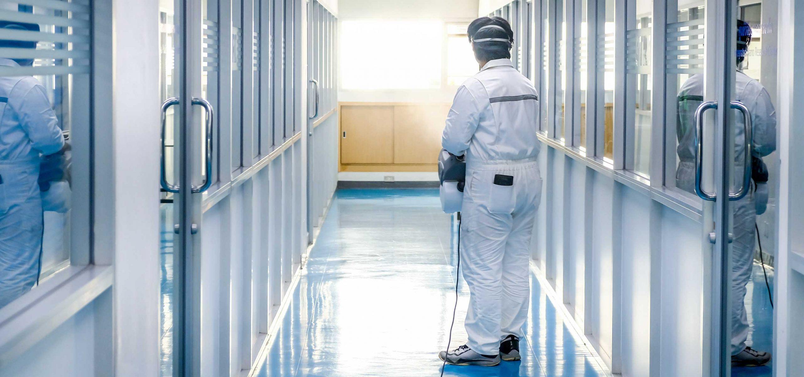 decontaminating coronavirus in office building