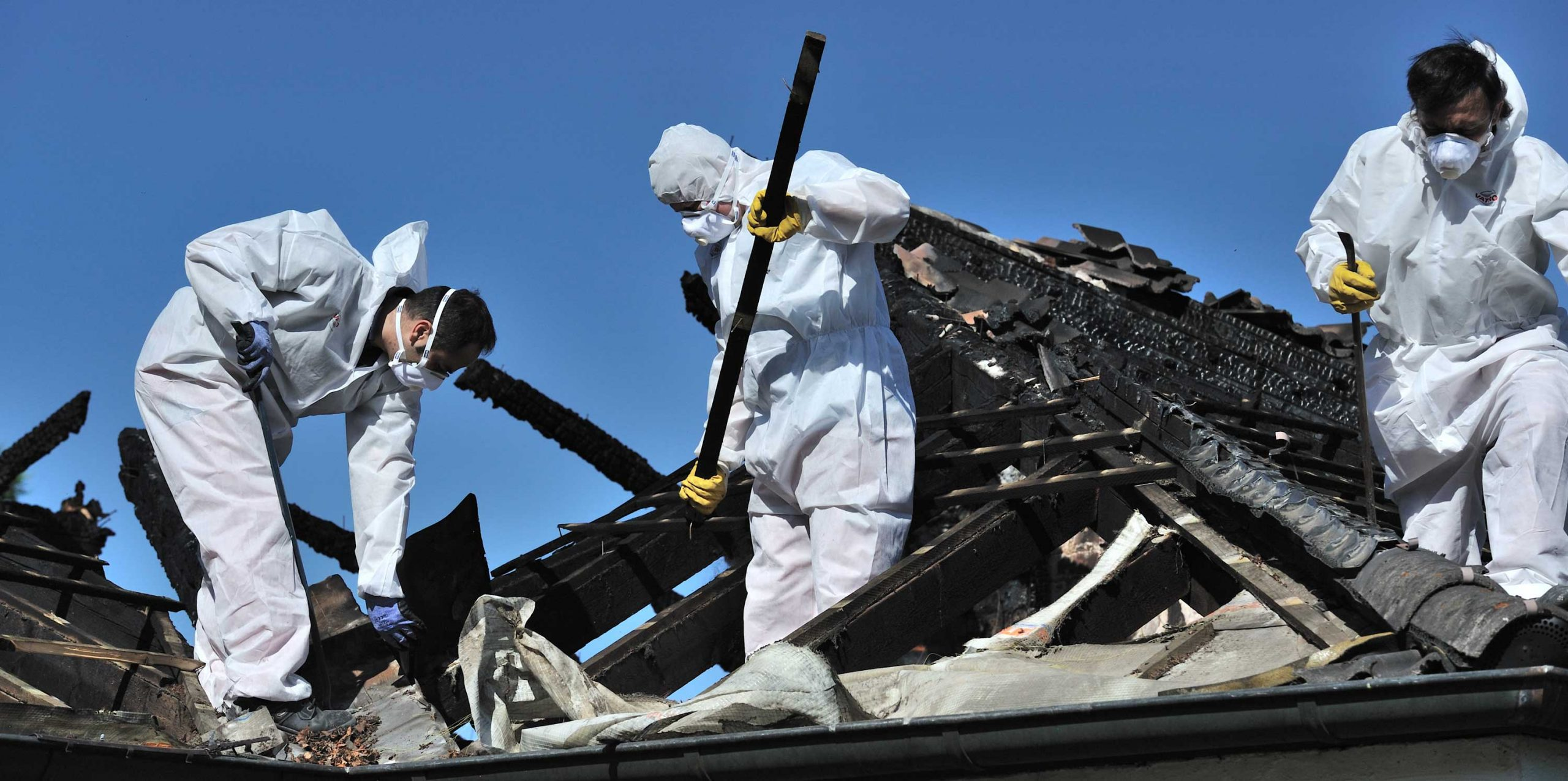 fire restoration workers