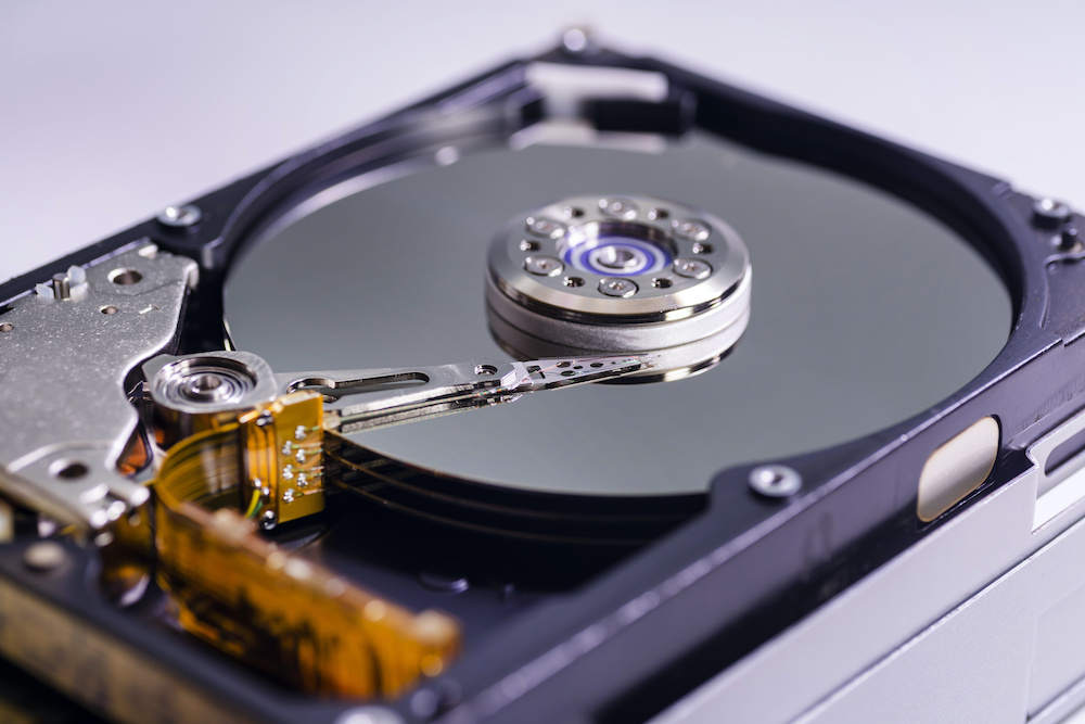 A hard drive in need of data restoration services